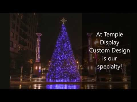 Custom Designs Are Our Specialty We Will Work With You To Create Your U Commercial Christmas Decorations Commercial Holiday Decor Commercial Christmas Lights
