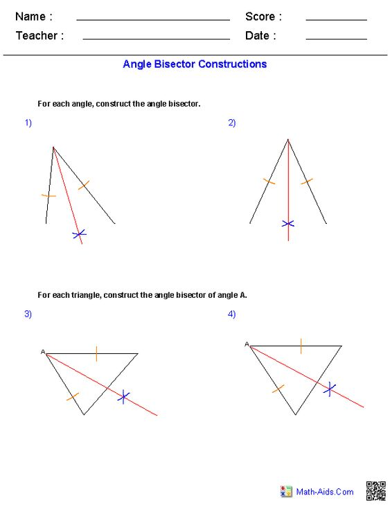 math worksheet : angle bisectors constructions worksheets  math worksheets  : Technical Math Worksheets
