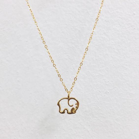 Gold Plated Ella Outline Necklace – Ivory Ella.
