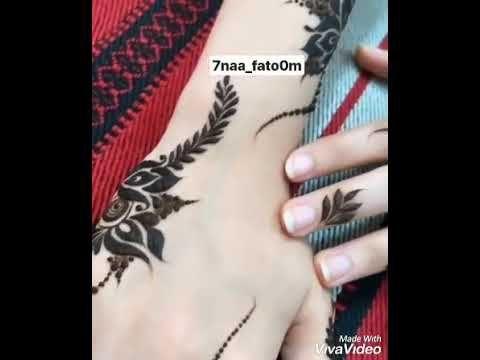 نقش حناء ناعم وخفيف Henna Youtube Hand Henna Henna Hand Tattoo Henna