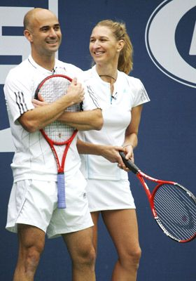 Andre Agassi and Steffi Graf. Amazing tennis champions. Married in 2001.