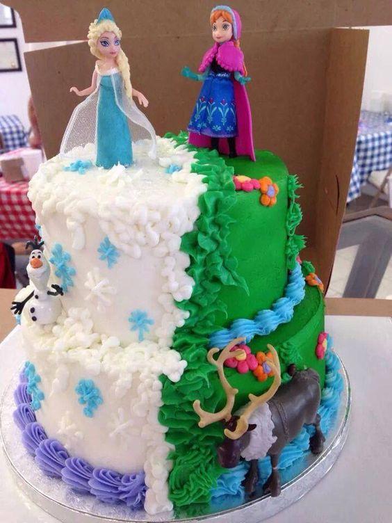 Frozen Birthday Cake Arendelle Ball Party Pinterest Frozen