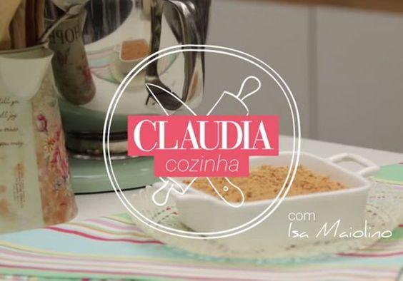 CLAUDIA Cozinha: pavê de paçoca - MdeMulher - Editora Abril