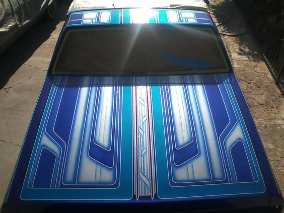 This was my first real #custom #KandyPaint job car i helped my buddy work on. #CustomPaint #Designs #Patterns #KandyPaint #Flakes ..