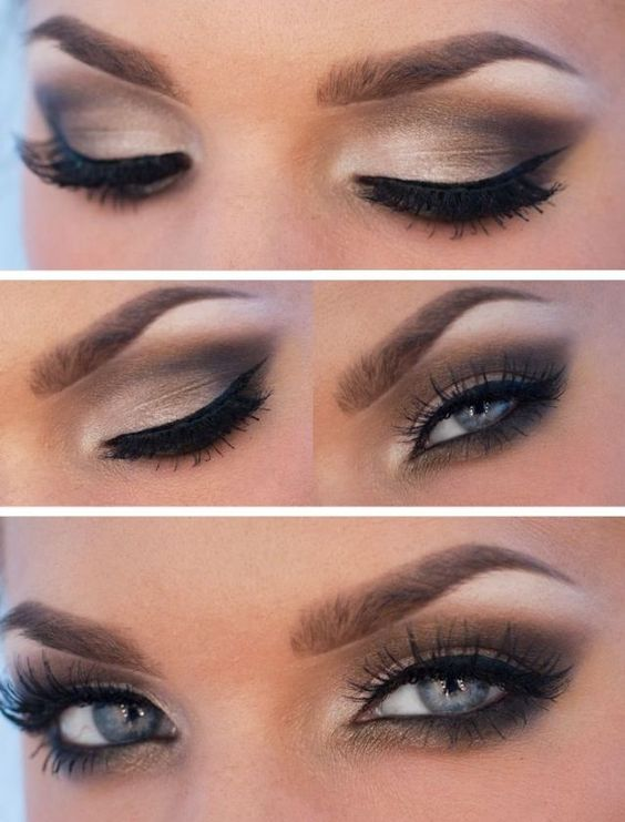 step by step Natural Makeup for blue eyes Pinned by ...