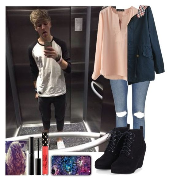 """Rainy day with Drew"" by crazydirectionergirl ❤ liked on Polyvore featuring Topshop, Surratt, band, thevamps, thetide, drewdirksen and whatyougive"
