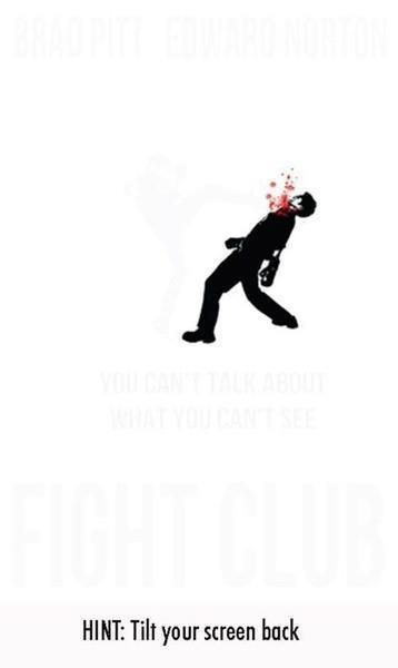 Fight Club poster: Fightclub, Movies Tv, Club Poster, Can T Talk, Don T Talk, Club Tilt, Fight Club, Movie Poster, Hint Tilt