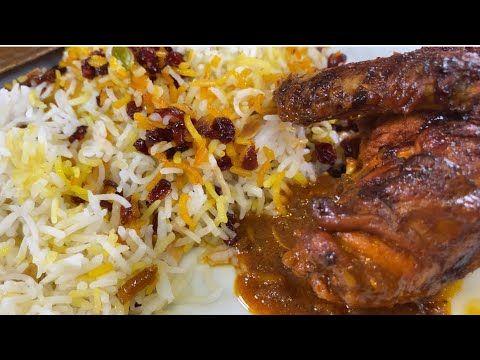 الذ رز مع الزرشك والذ دجاج أكلتوه محمر مبهر Youtube Food Cooking Arabic Food