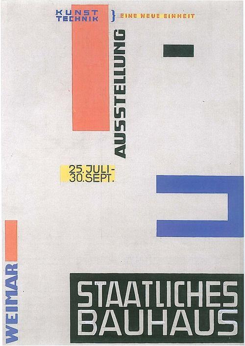 Bauhaus Weimar Poster By Herbert Bayer 1923 Bauhaus