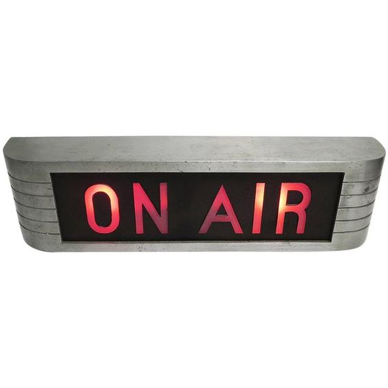 """1800 RCA Victor """"On Air"""" Lighted Recording Sign 
