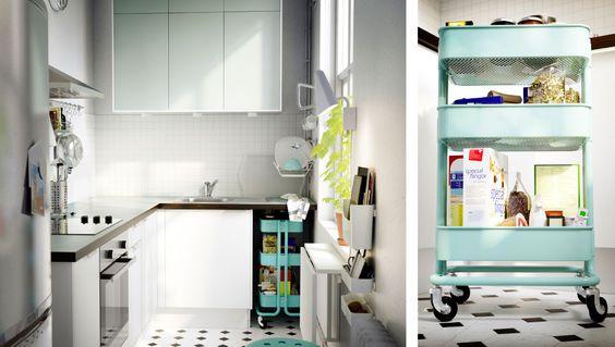 Kleine Küche mit FAKTUM Wand- + Unterschränken, PERFEKT APPLÅD - ikea kleine küchen