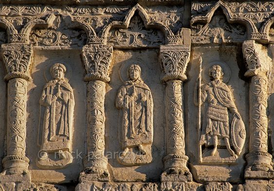 Russia goldenring relief of holy men on the