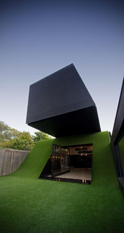 Ahh yes. Who wouldn't want a slide at home? Looks even more beautiful because a friend worked on this project.
