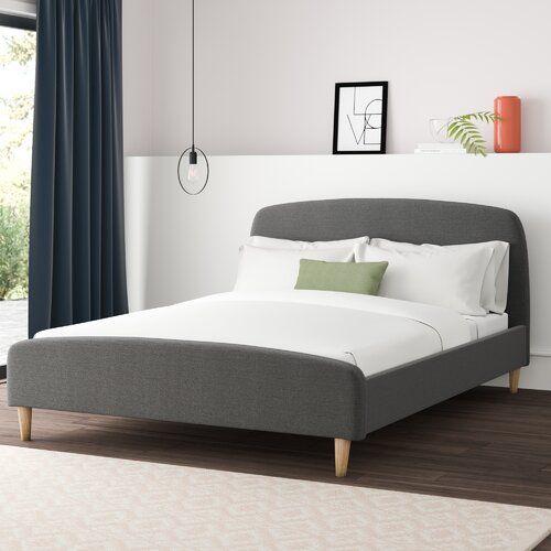 Brennan Upholstered Bed Frame Hykkon Size Double 4 6