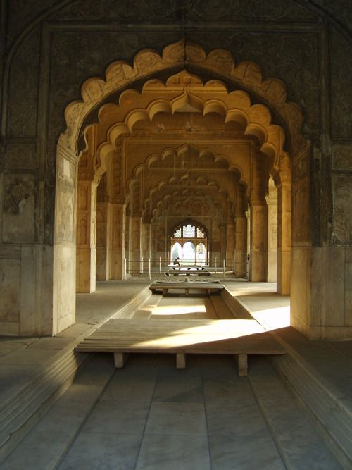 The Red Fort in New Delhi in Winter sunlight A must watch of the light & sound show, reflecting the Mughal era.