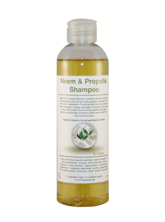 Wikaniko Neem and Propolis Shampoo contains naturally occurring anti-bacterial, anti-viral and anti-parasitic properties from both active ingredients. Helpful for those back to school hair blues affecting children! Refill packs available -  only buy a bottle the first time.  £4.64