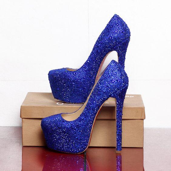 zapatos de plataforma azules , Buscar con Google
