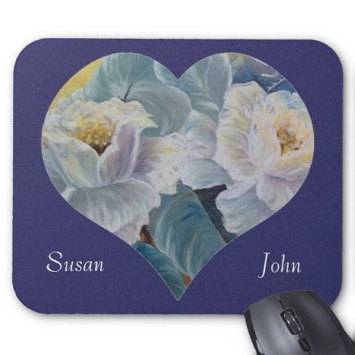 rose heart mouse pads