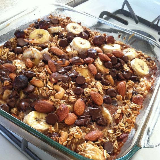 Vegan Oatmeal Banana Chocolate Chip Bake. Free Recipe