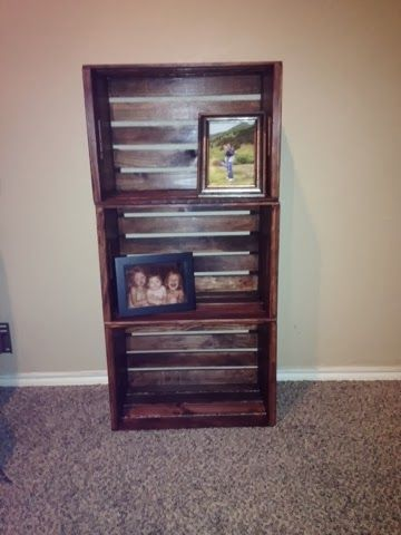 Stained Crate Shelves