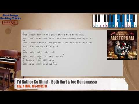 I D Rather Go Blind Beth Hart Joe Bonamassa Piano Backing Track