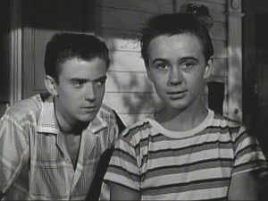 """Tim Considine (left) and Tommy Kirk in the Mickey Mouse Club's """"Hardy Boys."""""""