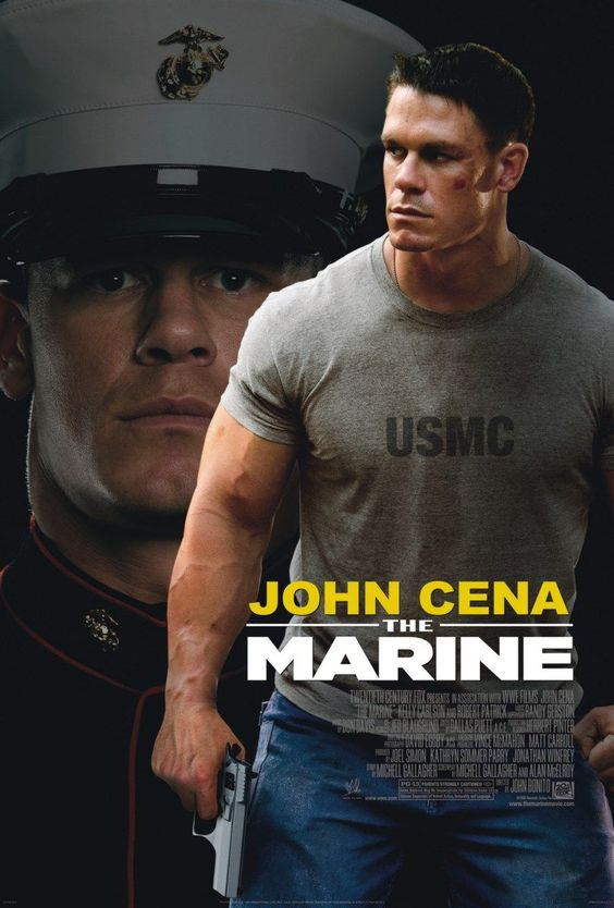 The Marine , starring John Cena, Kelly Carlson, Robert Patrick, Anthony Ray Parker. A group of diamond thieves on the run kidnap the wife of a recently discharged marine who goes on a chase through the South Carolinian wilderness to retrieve her. #Action #Drama #Thriller