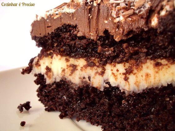 Cozinhar é Preciso: O melhor Bolo de Chocolate - para o aniversário do marido
