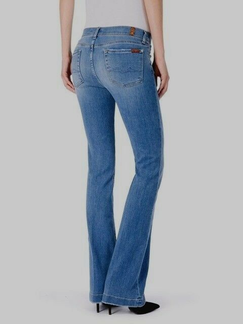New 7 For All Mankind Charlize Slim Flare Jeans Size 27 Uk 8 10