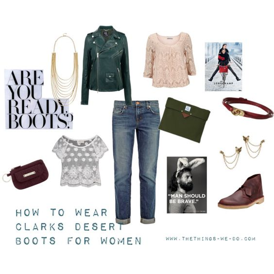 How To Wear #Clarks Desert Boots for Women by www.TheThings-We-Do.com