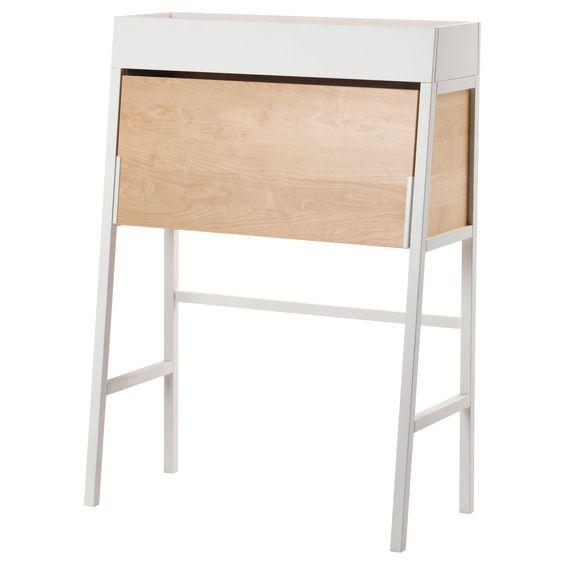 IKEA PS 2014 Secrétaire - blanc/plaqué bouleau - IKEA