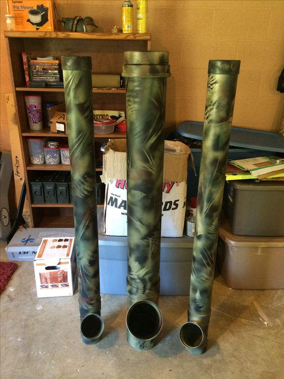 Diy deer feeder from pvc and camo spray paint hunting for Homemade deer feeders pvc pipe