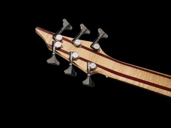 Bruno Traverso Guitars - Slender Bass Headstock Back 6