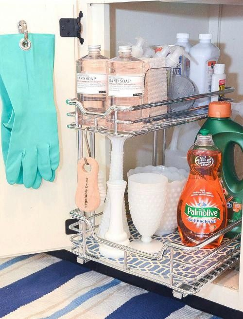 How To Organize Under The Kitchen Sink Fabulous Ideas For Tackling That Hard To Under Kitchen Sink Organization Kitchen Sink Organization Under Kitchen Sinks