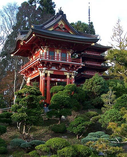 Temple Texas Traditional Home: Temple Gate In Japanese Tea Garden