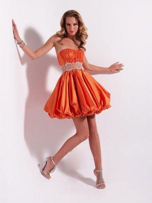 A-line Strapless Belt Sleeveless Short Mini Taffeta Cocktail Dresses Homecoming Dresses