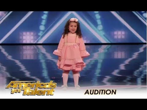 Tiny 5 Year Old Stands On Stage Alone But When She Opens Her