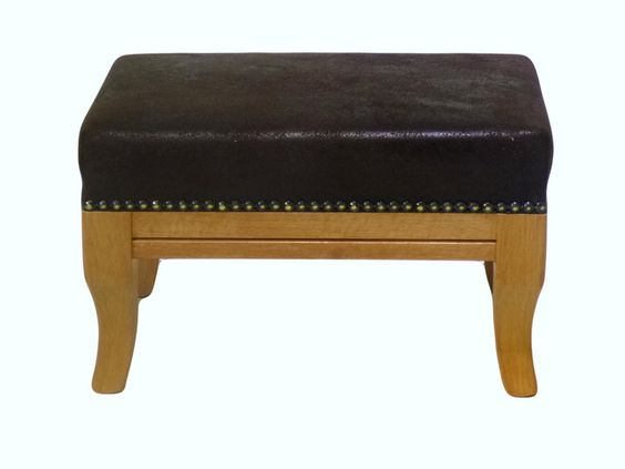 Fußbank mit Holzgestell von Jana's kleine Möbelwelt auf DaWanda.com