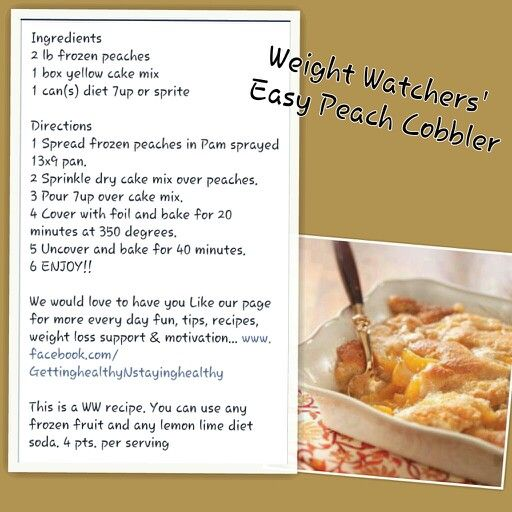 Weight Watchers' Easy  Peach Cobbler