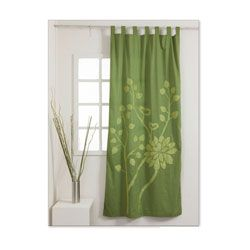@Overstock - Update your home decor with this lovely emerald-colored curtain panel that was made by artisans in India. A stylish floral print design and a tab top construction completes this cotton-made curtain panel.http://www.overstock.com/Worldstock-Fair-Trade/Emerald-92-inch-Curtain-Panel-India/6223613/product.html?CID=214117 $49.99