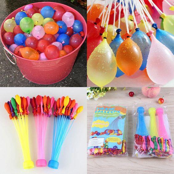 2.58€ 111 unids magia globos de agua en racimo Kids niños exterior juego verano juguete