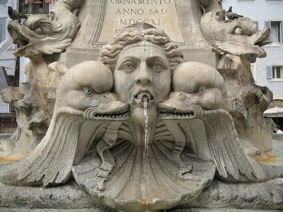 Evil duck fountain by Inkygirl, via Flickr Rome