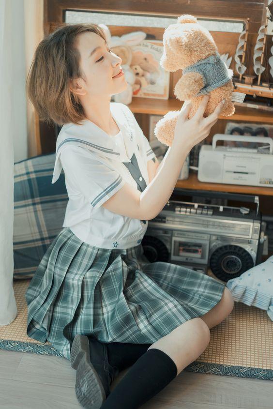 #水手服 #制服美少女 愛熊熊》#Cute #Girl #Pretty #Girls #漂亮 #可愛