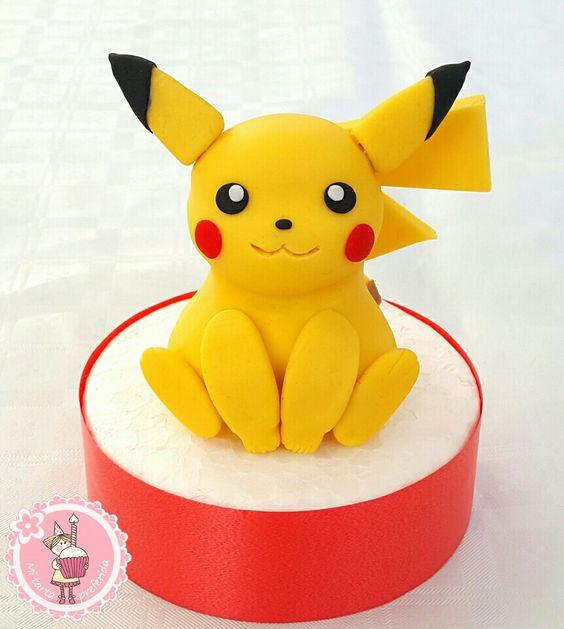 Mi tarta preferida : Como hacer a Pikachu con fondant - Pokémon