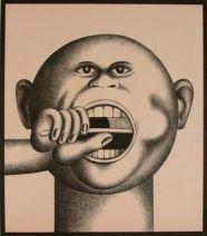 Zähneputzer I, hans ticha