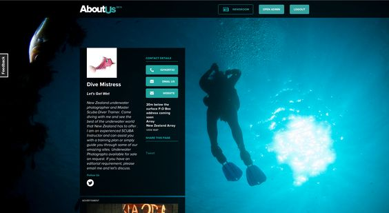 Dive Mistress. Possibly New Zealand's best underwater photographer.