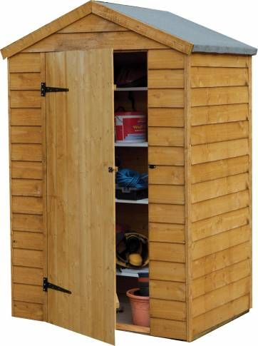 4ft x 3ft wide overlap premium apex shed a good shed for small spaces - Garden Sheds 3ft Wide