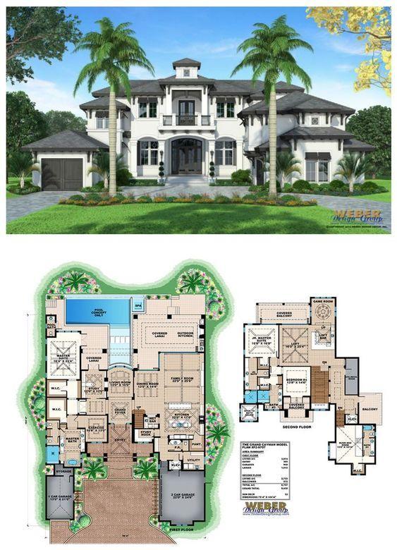 Coastal House Plan Luxury 2 Story West Indies Home Floor Plan Coastal House Plans House Plans Mansion Mansion Floor Plan