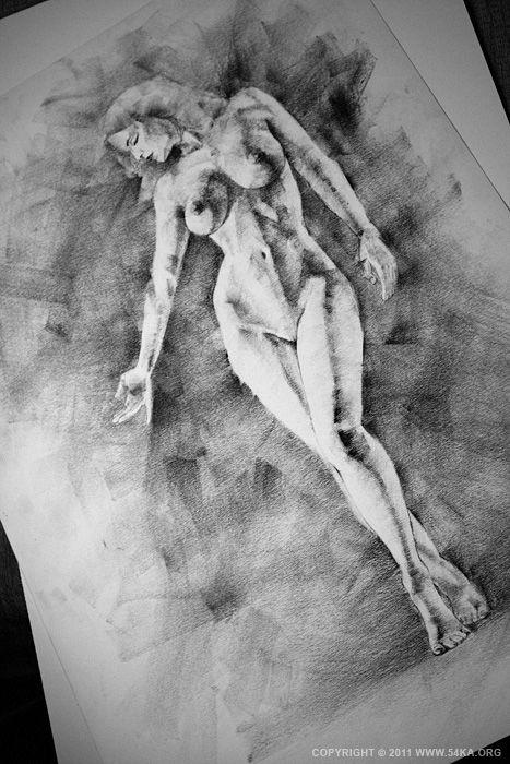 beautiful girl sketch naked