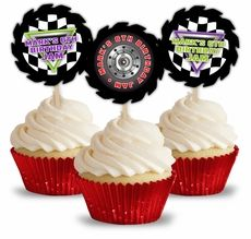 Monster Jam Grave Digger Monster Truck Party Personalized Cupcake Toppers $9.50 per dozen
